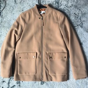H&M Lightweight Camel Colored Jacket, Gold Accents